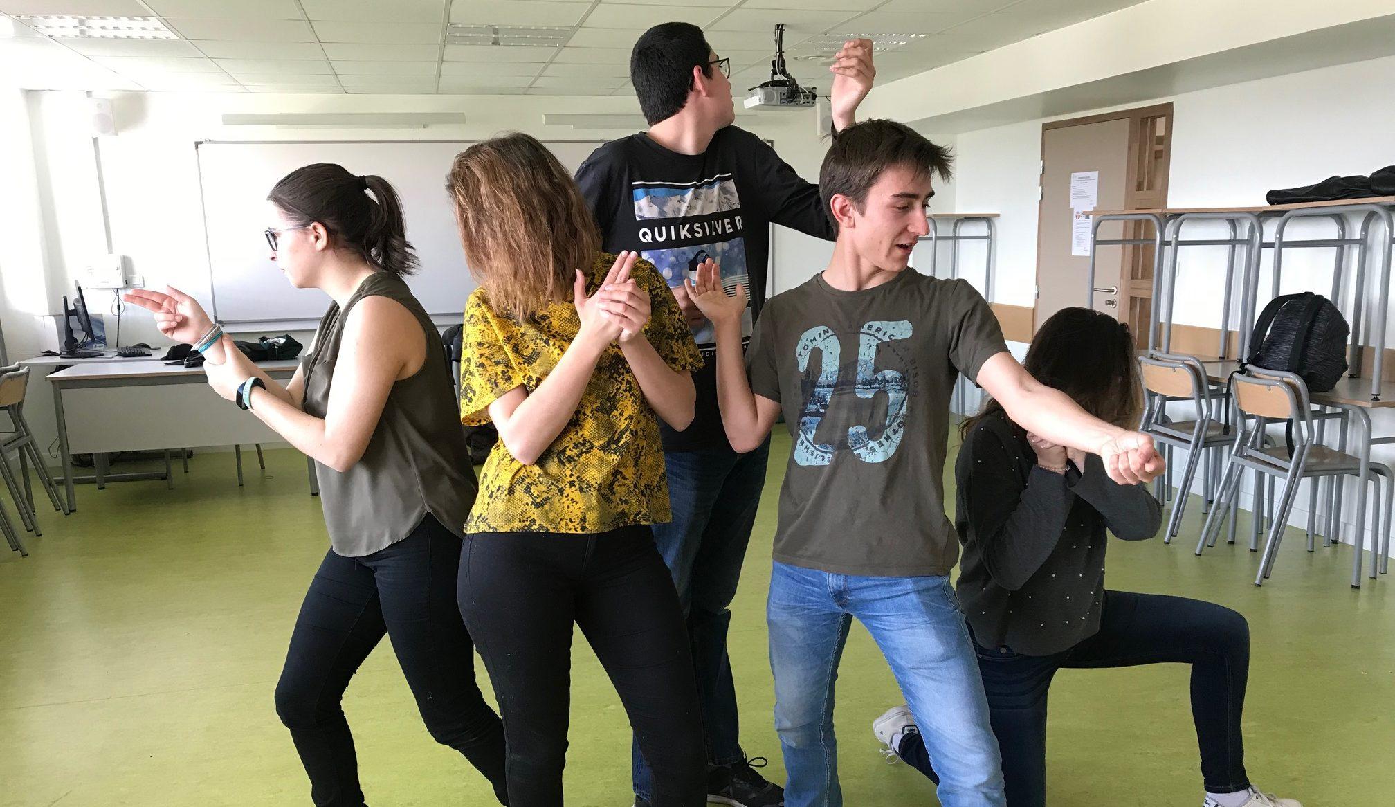 Le club théâtre en action